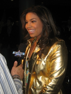 Jordin Sparks speaks with Access on the Leather & Laces red carpet