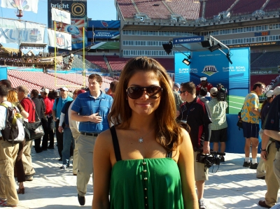 Access Hollywood's Maria Menounos at Media Day for Super Bowl XLIII
