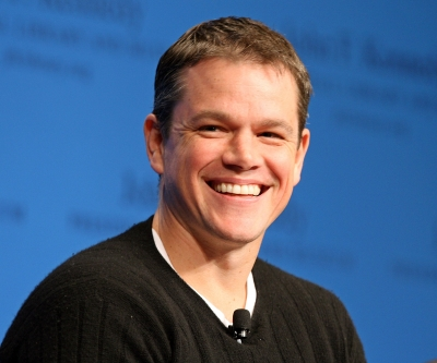 Matt Damon smiles during the 'Change Haiti Can Believe In' forum at the Stephen Smith Center at the John F. Kennedy Presidential Library and Museum on January 27, 2009 in Boston, Massachusetts