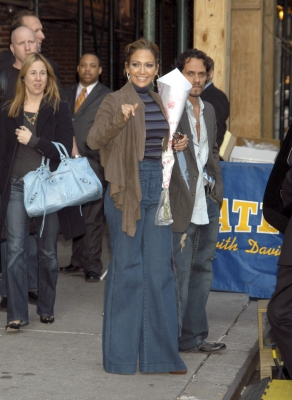 Jennifer Lopez and Marc Anthony at the Ed Sullivan Theatre in New York City, New York
