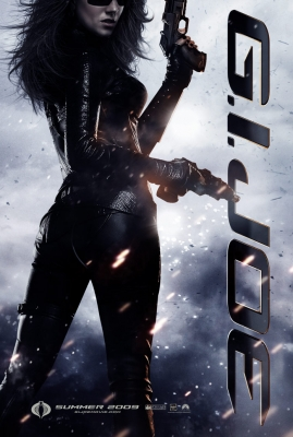 Baroness (Sienna Miller) shows off her guns in a 'G.I. Joe' poster