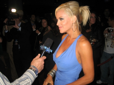 Leather & Laces host Jenny McCarthy talks with Access prior to the event