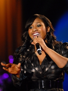 Jazmine Sullivan performs at the BET 'Yes We Will Inauguration Special' at BET's Studio 2 on January 19, 2009 in Washington, DC