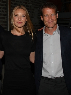 Anna Torv and Mark Valley attend 'Fringe' New York premiere party on August 25, 2008