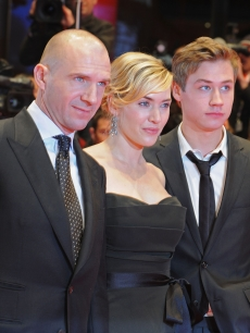 Ralph Fiennes, Kate Winslet and David Kross attend the premiere for 'The Reader' as part of the 59th Berlin Film Festival at the Berlinale Palast on February 6, 2009 in Berlin, Germany