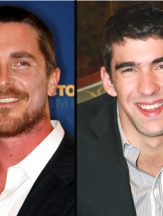 Christian Bale, Michael Phelps