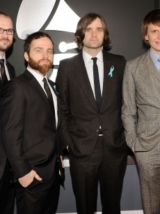 Death Cab For Cutie band members Jason McGerr,Nicholas Harmer, Ben Gibbard and Chris Walla arrive at  the red carpet
