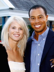Elin Nordegren and Tiger Woods in September 2006