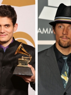 John Mayer and Jason Mraz at the 2009 Grammy Awards