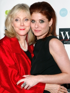 Blythe Danner and Debra Messing  attend the LOVE benefit to support WET&#8217;s 10th season at the Angel Orensanz Foundation on February 9, 2009 in New York City