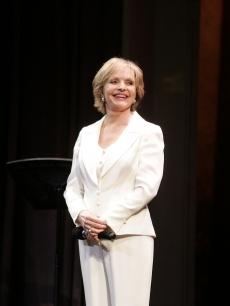 Florence Henderson performs 'Nothing Like a Dame' during the 2009 Broadway Backwards at the American Airlines Theatre on February 9, 2009 in New York City