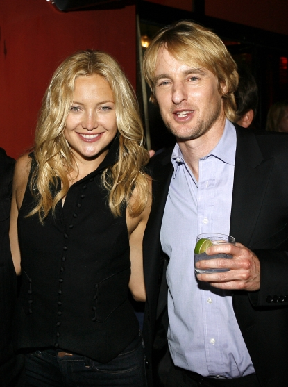 Kate Hudson and actor Owen Wilson attend the after party for the premiere of the ThinkFilm movie 'The Wendell Baker Story' on May 10, 2007