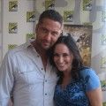 Laura with Gerard Butler at Comic Con 2008
