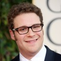 Seth Rogen is all smiles at the 2009 Golden Globe Awards