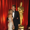 John Mayer hugs girlfriend Jennifer Aniston inside the Academy Awards 2009