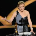 Kate Winslet speaks on stage after winning the Best Actress award for 'The Reader' during the 81st Annual Academy Awards held at Kodak Theatre on February 22, 2009 in Los Angeles, California