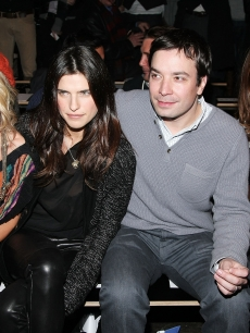Rachel Zoe, Lake Bell, Jimmy Fallon and Rose Byrne look on at the Rag & Bone fashion show during New York Fashion Week