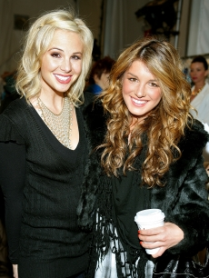 Elizabeth Hasselbeck and '90210' star Shenae Grimes are back in black at New York Fashion Week