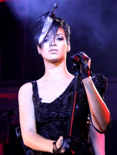 Rihanna performs at the 2009 Timbaland Grammy Party in LA