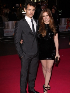 Hugh Dancy and Isla Fisher attends the UK Premiere of Confessions of a Shopaholic at Empire Leicester Square on February 16, 2009 in London, England