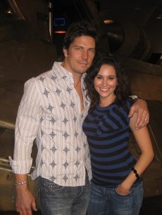 Laura with 'Battlestar Galactica' star Michael Trucco