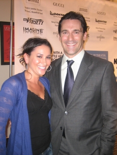 "Laura gets cozy with 'Mad Men's' Jon Hamm at UCLA Royce Hall for the ""One Night Only' event"