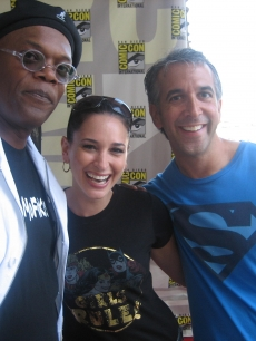 "Laura and Scott ""Movie"" Mantz with Samuel L. Jackson at Comic Con 2008"