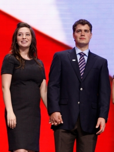Bristol Palin and Levi Johnston at the Republican National Convention (Sept. 2008)