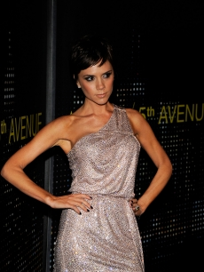 Victoria Beckham arrives for the opening of the Armani 5th Avenue store, Feb. 2009
