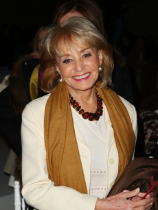 Barbara Walters attends the Oscar De La Renta Fall 2009 fashion show