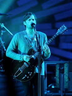 Caleb Followhill of Kings of Leon performs at the Brits
