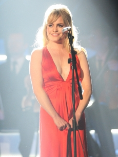 Duffy performs at the Brit Awards