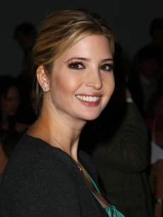 Ivanka Trump smiles for the cameras at the Brian Reyes Fall 2009 show at New York Fashion Week