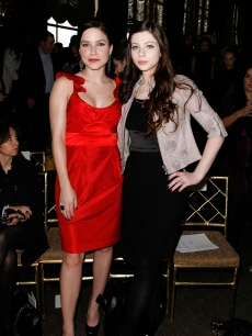 Sophia Bush and Michelle Trachtenberg attend the Malandrino Fall 2009 fashion show during Mercedes-Benz Fashion Week