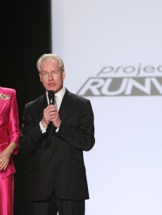 Heidi Klum and Tim Gunn during 'Project Runway's' finale show during New York Fashion Week 2009
