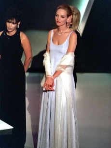 Uma Thurman at the 1995 Oscars