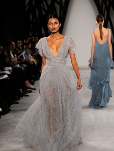 A model walks the runway at the Jason Wu Fall 2009 fashion show during Mercedes-Benz Fashion Week
