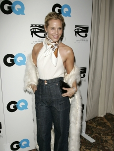 Maria Bello arrives at the GQ/American Cinematheque Pre-Golden Globe Party at the Regent Beverly Wilshire on January 13, 2006 in Los Angeles, California