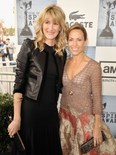 Laura Dern and Sheryl Crowe pose at the the 24th Annual Film Independent's Spirit Awards in Santa Monica