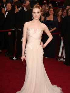Evan Rachel Wood arrives at the 81st Annual Academy Awards