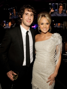 Josh Groban and Carrie Underwood attend the 17th Annual Elton John AIDS Foundation Oscar party held at the Pacific Design Center on February 22, 2009 in West Hollywood, California