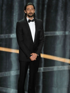 Adrien Brody presents Best Actor at the 2009 Oscars