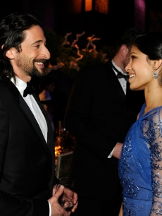 Adrien Brody and Freida Pinto attend the 81st Annual Academy Awards Governor's Ball held at Kodak Theatre on February 22, 2009 in Los Angeles