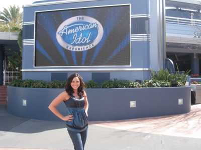 Laura Saltman outside the 'American Idol' Experience