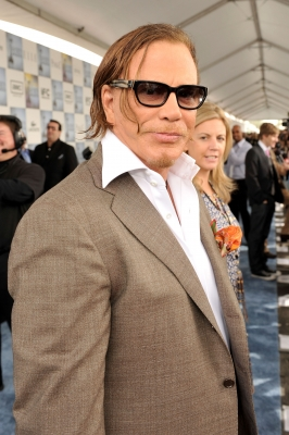 A sharp-looking Mickey Rourke at the 24th Annual Film Independent's Spirit Awards in Santa Monica