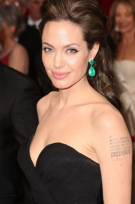Angelina Jolie really proves less is more on the 2009 Oscars red carpet 