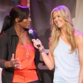 Nancy O&#8217;Dell interviews Serena Williams at the Gatoraded G2 Everday Athlete Search in LA, Feb. 24, 2009
