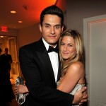 John Mayer and Jennifer Aniston cuddle up at the Vanity Fair Oscar party