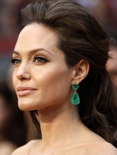 Angelina Jolie arrives to the 2009 Oscars