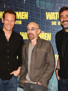 Patrick Wilson, Jackie Earle Haley and Jeffrey Dean Morgan attend the 'Watchmen' ('Die Waechter') photocall at hotel Bayerischer Hof on February 26, 2009 in Munich, Germany